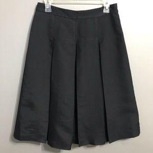 Halogen Black Pleated A-line Skirt